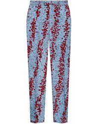 Bottega Veneta Textured Pants - Blue
