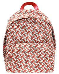 Burberry Monogram Zip Around Backpack - Red