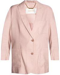 Zimmermann Blazer With Peak Lapels - Pink
