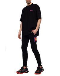 Dirk Bikkembergs Logo T-shirt Black