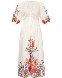 Zimmermann Floral-printed Dress - White