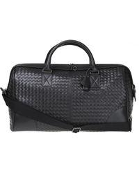 Bottega Veneta Leather Duffel Bag - Brown