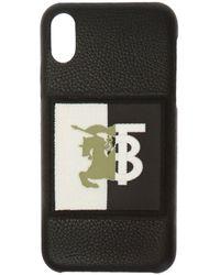 Burberry Logo-patch Iphone X/xs Case - Black