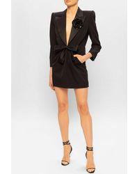 Saint Laurent Tuxedo Dress Black