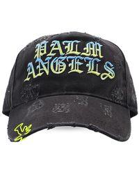 Palm Angels Branded Baseball Cap Unisex Grey