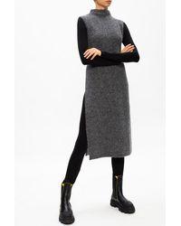 Ganni Long-sleeved Bodysuit Black