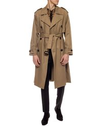 Saint Laurent Double-breasted Trench Coat Beige - Natural
