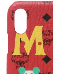 MCM Iphone Xs Max Case Unisex Red