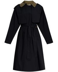 Marni Trench Coat With Belt - Blue