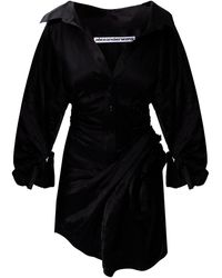 Alexander Wang Asymmetrical Dress Black