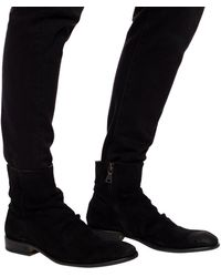 John Varvatos 'keith' Suede Ankle Boots - Black