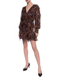 Ulla Johnson Natalia Printed Silk-blend Dress - Brown