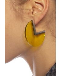 Isabel Marant Earrings With Logo Yellow