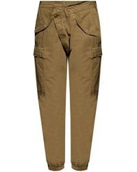 R13 Cargo Trousers Green