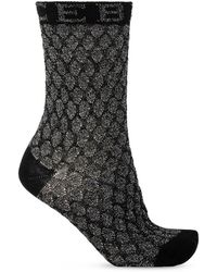 Iceberg Socks With Logo - Black