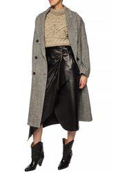Isabel Marant Fiova Leather Wrap Skirt - Black