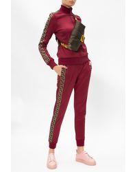 Fendi Side-stripe Jogging Trousers Burgundy - Red