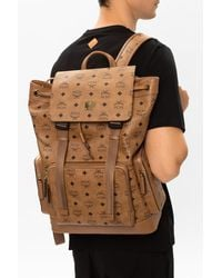 MCM Backpack With Logo - Brown