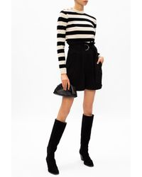 Ganni High-waisted Shorts - Black