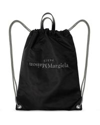 Maison Margiela Logo-embroidered Backpack - Black