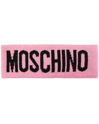 Moschino Headband With Logo - Pink