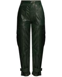 Samsøe & Samsøe Leather Trousers Green