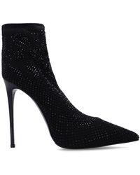 Le Silla Mesh Stiletto Court Shoes - Black