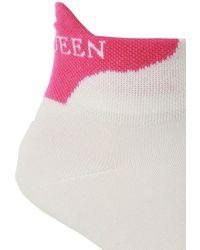 Alexander McQueen Logo Socks White