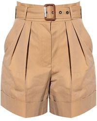 Alexander McQueen High-waisted Shorts Beige - Natural