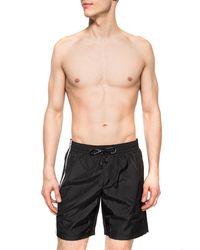 Dolce & Gabbana Swim Shorts With Taping - Black