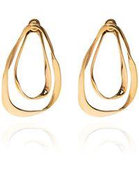 Alexander McQueen Double Layer Earrings Gold - Metallic