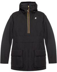 K-Way 'jeffry' Hooded Jacket - Black