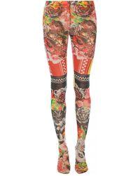 Versace Logo-printed leggings - Multicolour