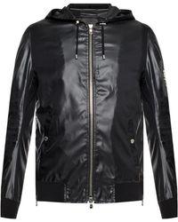 Balmain Hooded Rain Jacket - Black