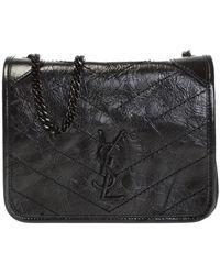 Saint Laurent 'niki' Shoulder Bag Black
