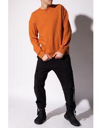 Samsøe & Samsøe Ribbed Sweatshirt Orange