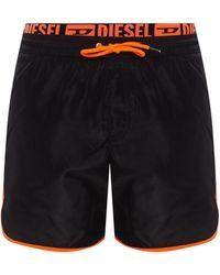 DIESEL Branded Swim Shorts - Black