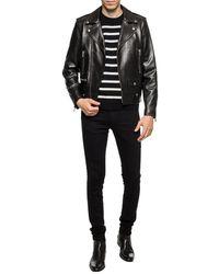 Saint Laurent Striped Sweater - Black