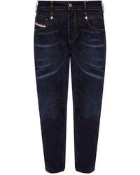 DIESEL 'd-fayza' Distressed Boyfriend Jeans - Blue