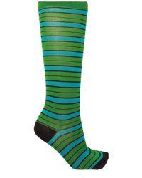 Marni Patterned Socks - Green