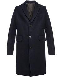 Zadig & Voltaire Notch Lapel Coat - Blue