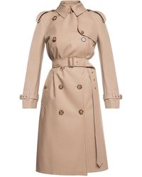 Burberry Chelsea Heritage Double-breasted Trench Coat - Natural