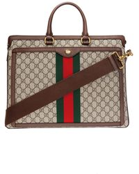 1b8ceea139d Lyst - Gucci Brown Hand-painted Dionysus Briefcase in Brown for Men