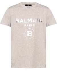 Balmain Logo-printed T-shirt Grey