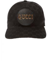 Gucci Baseball Cap With Logo - Black