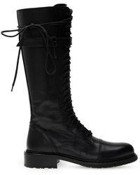 Ann Demeulemeester Heeled Lace-up Boots Black