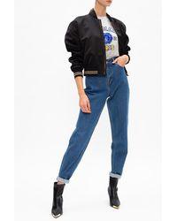 Versace Bomber Jacket With Medusa Head - Black
