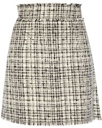 Dolce & Gabbana Checked Skirt White