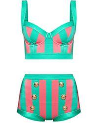 Balmain Two-piece Swimsuit - Green