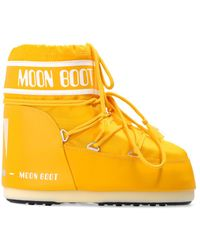 Moon Boot 'classic Low' Snow Boots - Yellow